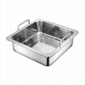 Stainless steel Square Basin separated