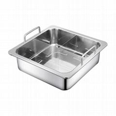 方形T字火鍋 不鏽鋼方形丁字火鍋