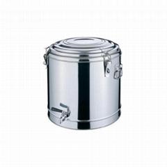 不鏽鋼雙層多用桶茶樓廚具保溫飯桶建築工地茶水桶酒店用品