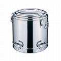 不鏽鋼雙層多用桶茶樓廚具保溫飯桶建築工地茶水桶酒店用品 2