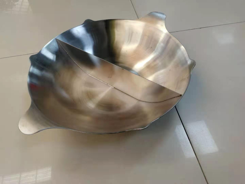 不锈钢鸳鸯火锅盆 个性异形鸳鸯火锅 1
