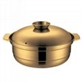 砂河烹饪炊具汤锅/鸳鸯火锅不锈钢椰子鸡火锅可用瓦斯炉电磁炉 2