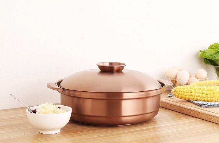 砂河烹饪炊具汤锅/鸳鸯火锅不锈钢椰子鸡火锅可用瓦斯炉电磁炉 3