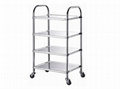 hotel hot pot store articles S/S trolley restaurant kitchenware hot pot cart