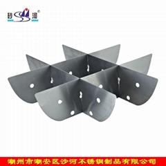 Cookingware S/S Hot Pot Nine Grids (Tic Tac Toe) Jingzige Hot Pot Accessory
