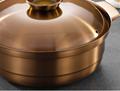 砂河烹飪紫銅色不鏽鋼鴛鴦火鍋適應電磁爐瓦斯爐使用火鍋店用具 6