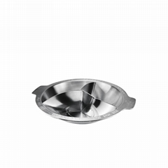 Stainless stee three separate hot pot