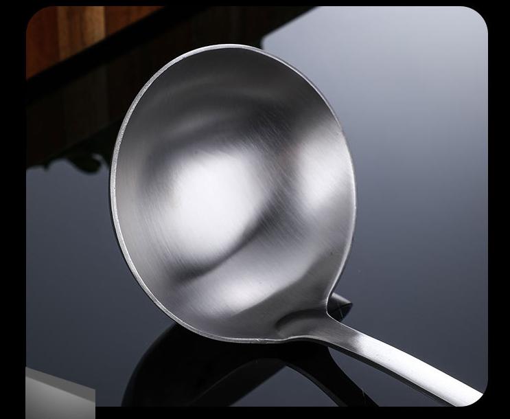 餐具挂式湯漏勺厚重不鏽鋼曲柄新創意舀湯湯漏殼 4