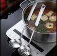 挂式汤漏勺厚重不锈钢曲柄新创意