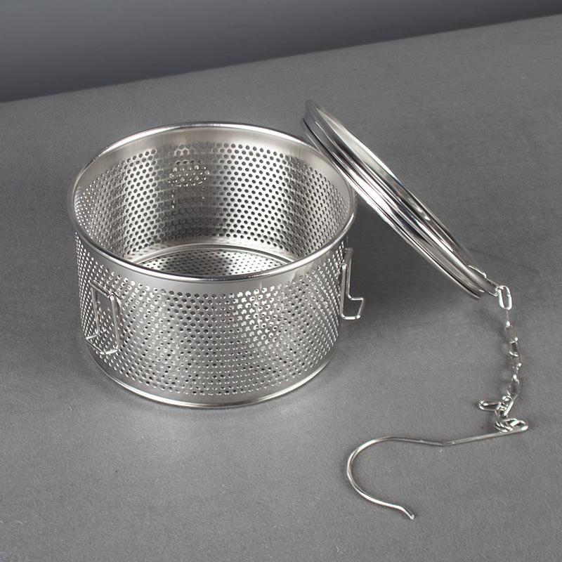 Kitchenware S/S Filter Slag Separation Soup Spice Basket for separating residue  3