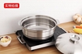 家用大容量汤锅商用不锈钢椰子鸡火锅燃气电磁炉均可使用 2