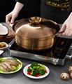 家用大容量汤锅商用不锈钢椰子鸡火锅燃气电磁炉均可使用 6
