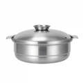 家用大容量湯鍋商用不鏽鋼椰子雞火鍋燃氣電磁爐均可使用