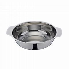 砂河炊具迷你火鍋火鍋店用品18cm家庭湯鍋商業不鏽鋼米線鍋煲仔