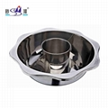 s/s kitchen cooking pan with Central pot & bulkhead hot pot Use for Gas oven