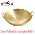 大家庭銅炒鑊商用大尺寸黃銅炒鍋加深加厚日常用品