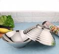 批發銷售餐具商用不鏽鋼喇叭雙層隔熱防燙碗家庭日常生活用品 2