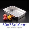 餐具不鏽鋼方盤平底瀝水托盤沖孔