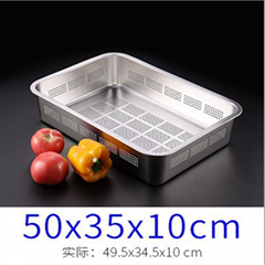 Hotel Restaurant Food Pans Container Kitchenware S/S Material Drainage Trays