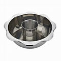 kitchenware s/s  stock pot stock with centre pot & divider into five parts