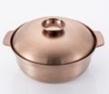 Stainless steel plain broth fire pot(fondue) 4