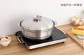 Stainless steel plain broth fire pot(fondue) 5