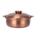 Stainless steel plain broth fire pot(fondue) 7