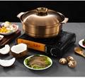 Stainless steel plain broth fire pot(fondue) 12