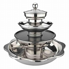 Stainless Steel Quadruple Layer Hot pot For gas stoves