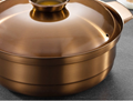Stainless steel Sour plum chicken hot pot metal saucepots cookware made in china 2