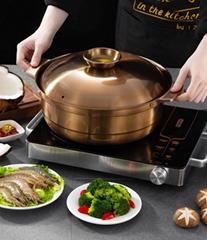 砂河炊具椰子雞火鍋酸梅雞煲適合火鍋餐廳使用