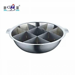 stainless steel hot pot sudoku cookware factory direct made in China