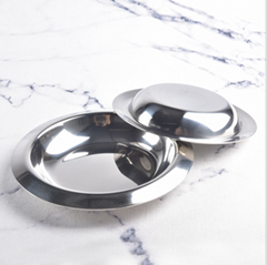 Stainless steel cutlery reverse side soup plate crayfish tray