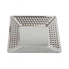 不锈钢方形豪华托盘锤点方盘