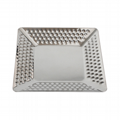 s/s tableware square luxury tray hammer point rectangular square tray