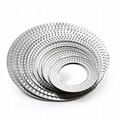 s/s tableware trays hammer point round plates for hotel restaurant from china