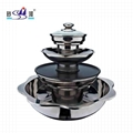 Chinesesque cookware 4 tier pagoda chafing shabu hot oot BBQ grill for Serving