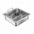 餐飲設備不鏽鋼方形bq三味火鍋