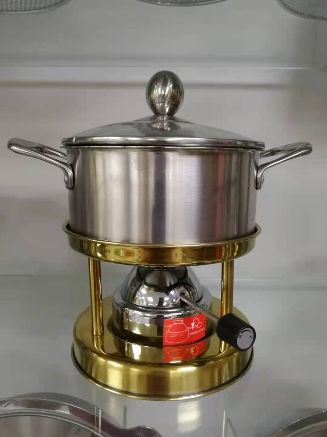 stainless steel Gas stove mini hot pot equipment 1
