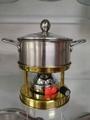 不鏽鋼卡式爐清湯火鍋套裝鴛鴦鍋