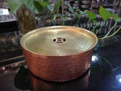 Ø16.5xH6cm手打紫銅茶盤