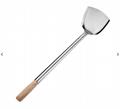 chinese wooden handle wok shovel/wok