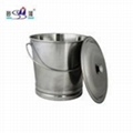 kindergarten Catering Kitchenware S/S with handle Oblique Style Pail Bucket  3