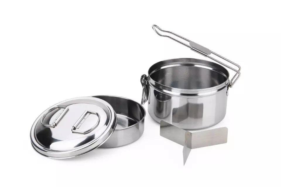 餐具手提單柄便當鍋百貨日常用品圓形飯盒 1