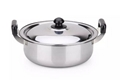 Stainless steel casserole with bakelite