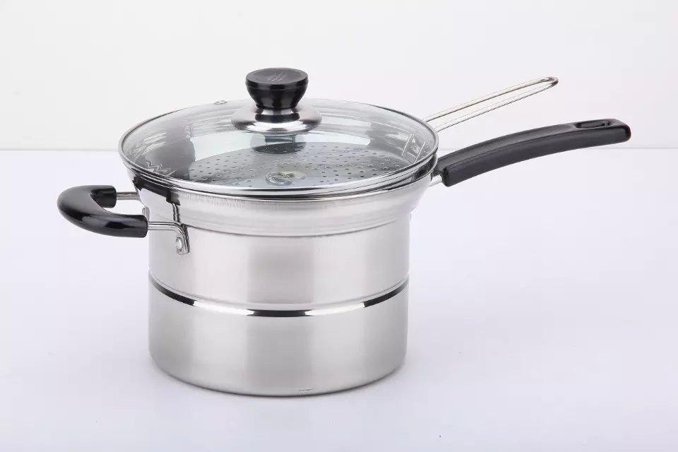 Steel Pasta Pot Noodle Pot Pasta Spaghetti Stock Pot With Strainer Insert 2