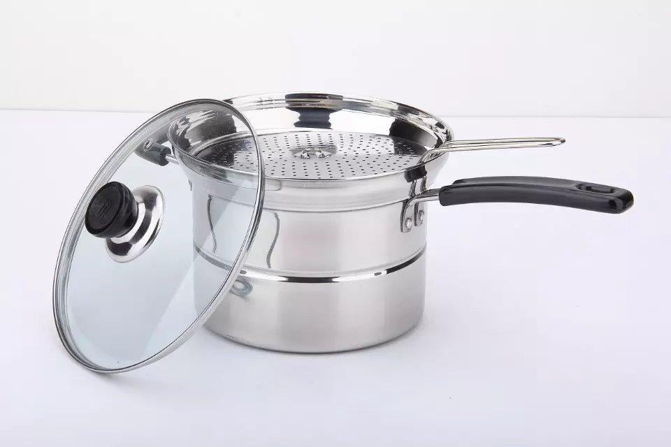 Steel Pasta Pot Noodle Pot Pasta Spaghetti Stock Pot With Strainer Insert 3