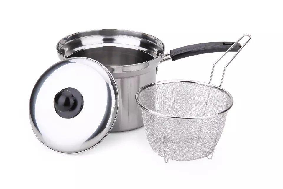 Steel Pasta Pot Noodle Pot Pasta Spaghetti Stock Pot With Strainer Insert 4