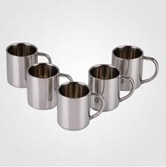 不锈钢双层水杯