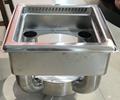 smokeless equipment buffet fondue table for indoor restaurant store
